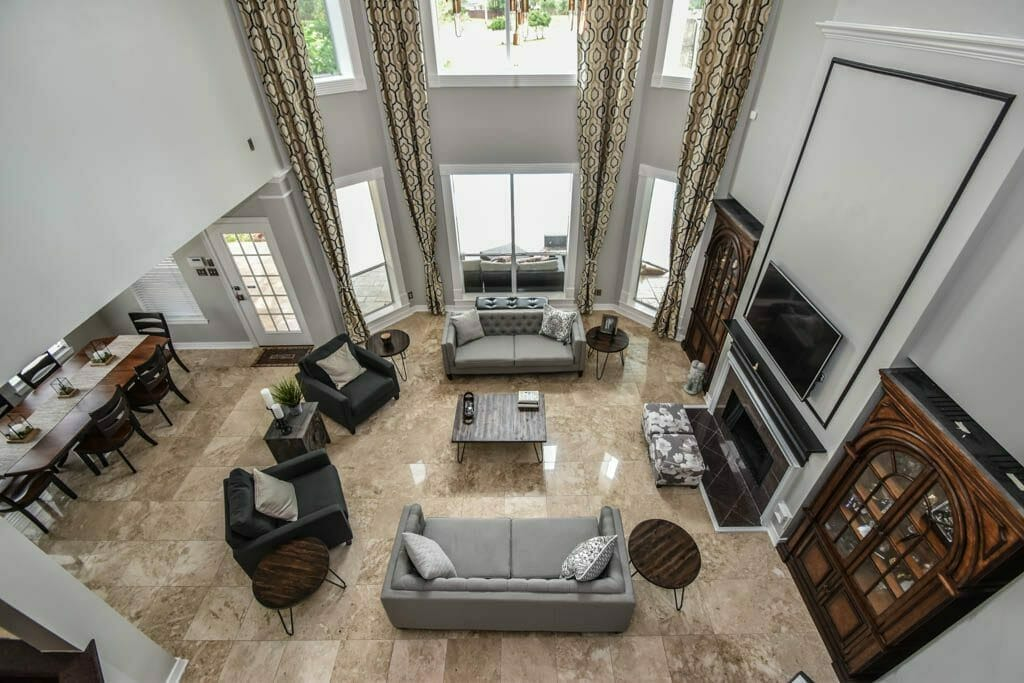 Pearland, TX Home - Interior Shot of Living Room