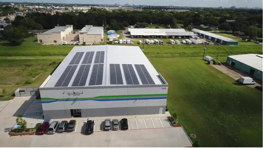 Houston Badminton Center Aerial Photo