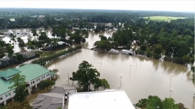 Drone Aerial Photo of Houston Flood
