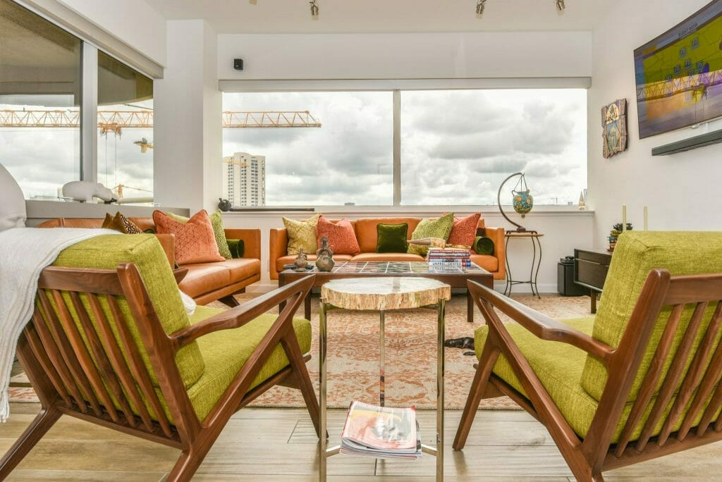 Houston Museum District Condominium - Interior Shot of Living Room