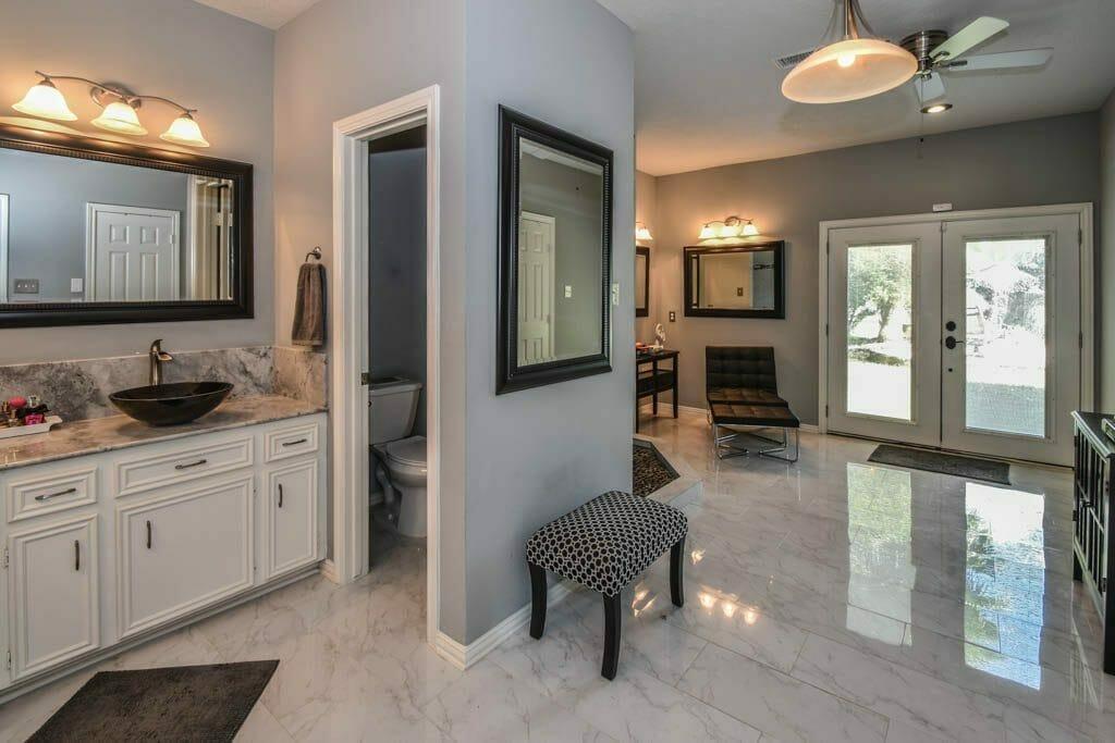 Cypress, TX - Interior Shot of Master Bathroom Suite