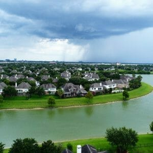 Residential Real Estate Listing - Shadow Royal Drive, across the lake from Mike Driscoll Park in west Houston.